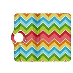 Colorful Background Of Chevrons Zigzag Pattern Kindle Fire Hdx 8 9  Flip 360 Case by Amaryn4rt