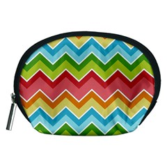 Colorful Background Of Chevrons Zigzag Pattern Accessory Pouches (medium)  by Amaryn4rt
