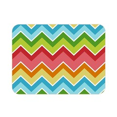 Colorful Background Of Chevrons Zigzag Pattern Double Sided Flano Blanket (mini)  by Amaryn4rt