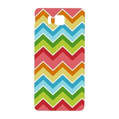Colorful Background Of Chevrons Zigzag Pattern Samsung Galaxy Alpha Hardshell Back Case by Amaryn4rt