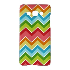 Colorful Background Of Chevrons Zigzag Pattern Samsung Galaxy A5 Hardshell Case  by Amaryn4rt
