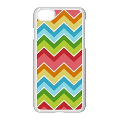 Colorful Background Of Chevrons Zigzag Pattern Apple Iphone 7 Seamless Case (white) by Amaryn4rt