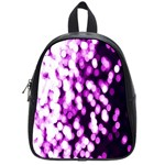 Bokeh Background In Purple Color School Bags (Small)  Front