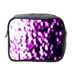 Bokeh Background In Purple Color Mini Toiletries Bag 2 Side by Amaryn4rt
