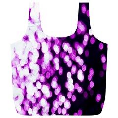 Bokeh Background In Purple Color Full Print Recycle Bags (l)  by Amaryn4rt