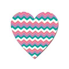 Chevron Pattern Colorful Art Heart Magnet by Amaryn4rt