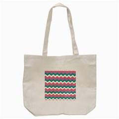 Chevron Pattern Colorful Art Tote Bag (cream) by Amaryn4rt