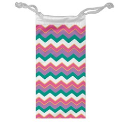 Chevron Pattern Colorful Art Jewelry Bag by Amaryn4rt