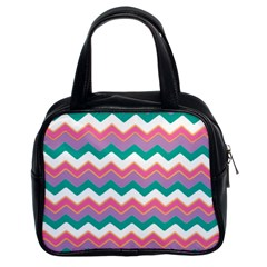 Chevron Pattern Colorful Art Classic Handbags (2 Sides) by Amaryn4rt