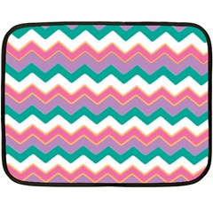 Chevron Pattern Colorful Art Double Sided Fleece Blanket (mini)  by Amaryn4rt