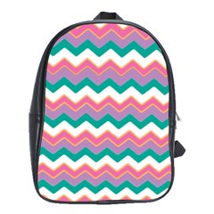 Chevron Pattern Colorful Art School Bags(large)  by Amaryn4rt