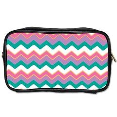 Chevron Pattern Colorful Art Toiletries Bags by Amaryn4rt