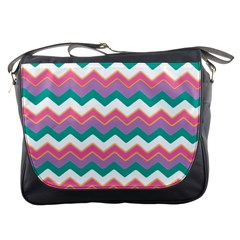 Chevron Pattern Colorful Art Messenger Bags by Amaryn4rt
