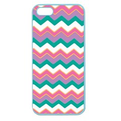 Chevron Pattern Colorful Art Apple Seamless Iphone 5 Case (color) by Amaryn4rt