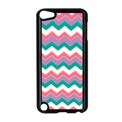 Chevron Pattern Colorful Art Apple Ipod Touch 5 Case (black) by Amaryn4rt