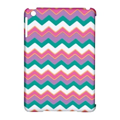 Chevron Pattern Colorful Art Apple Ipad Mini Hardshell Case (compatible With Smart Cover) by Amaryn4rt