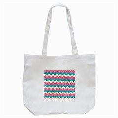 Chevron Pattern Colorful Art Tote Bag (white) by Amaryn4rt