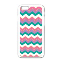 Chevron Pattern Colorful Art Apple Iphone 6/6s White Enamel Case by Amaryn4rt