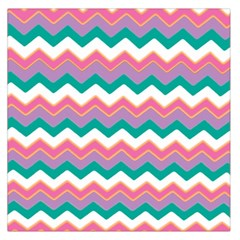 Chevron Pattern Colorful Art Large Satin Scarf (square) by Amaryn4rt