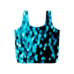 Bokeh Background In Blue Color Full Print Recycle Bags (s)  by Amaryn4rt