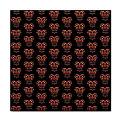Dark Conversational Pattern Tile Coasters by dflcprints