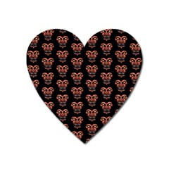 Dark Conversational Pattern Heart Magnet by dflcprints