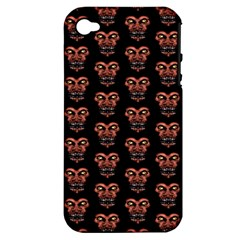 Dark Conversational Pattern Apple Iphone 4/4s Hardshell Case (pc+silicone)