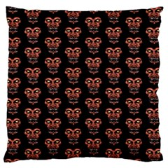 Dark Conversational Pattern Large Flano Cushion Case (one Side) by dflcprints