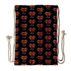 Dark Conversational Pattern Drawstring Bag (large) by dflcprints