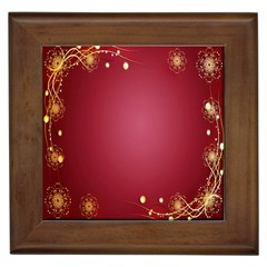 Red Background With A Pattern Framed Tiles by Amaryn4rt