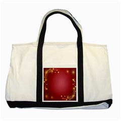 Red Background With A Pattern Two Tone Tote Bag by Amaryn4rt