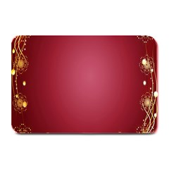 Red Background With A Pattern Plate Mats by Amaryn4rt