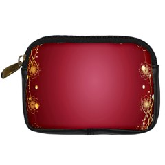 Red Background With A Pattern Digital Camera Cases by Amaryn4rt