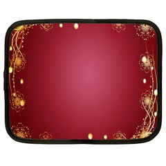 Red Background With A Pattern Netbook Case (xl)  by Amaryn4rt