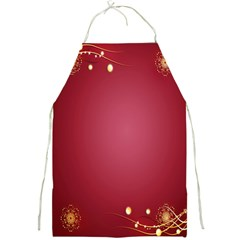 Red Background With A Pattern Full Print Aprons by Amaryn4rt