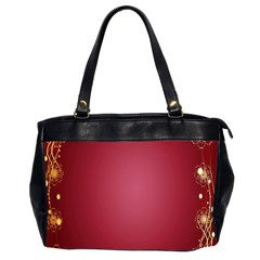 Red Background With A Pattern Office Handbags (2 Sides)  by Amaryn4rt