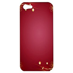 Red Background With A Pattern Apple Iphone 5 Hardshell Case by Amaryn4rt