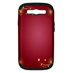 Red Background With A Pattern Samsung Galaxy S Iii Hardshell Case (pc+silicone) by Amaryn4rt