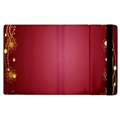 Red Background With A Pattern Apple Ipad 3/4 Flip Case by Amaryn4rt