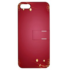 Red Background With A Pattern Apple Iphone 5 Hardshell Case With Stand by Amaryn4rt