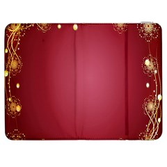 Red Background With A Pattern Samsung Galaxy Tab 7  P1000 Flip Case by Amaryn4rt
