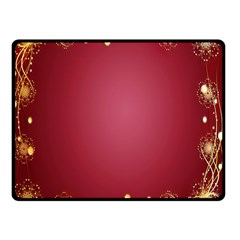 Red Background With A Pattern Double Sided Fleece Blanket (small)  by Amaryn4rt