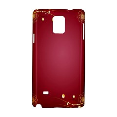 Red Background With A Pattern Samsung Galaxy Note 4 Hardshell Case by Amaryn4rt