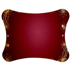 Red Background With A Pattern Jigsaw Puzzle Photo Stand (bow) by Amaryn4rt