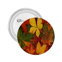 Colorful Autumn Leaves Leaf Background 2 25  Buttons by Amaryn4rt