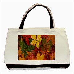 Colorful Autumn Leaves Leaf Background Basic Tote Bag by Amaryn4rt