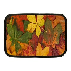 Colorful Autumn Leaves Leaf Background Netbook Case (medium)  by Amaryn4rt