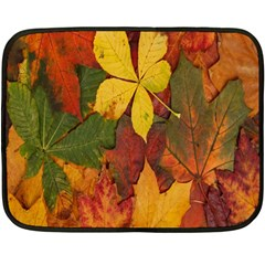 Colorful Autumn Leaves Leaf Background Fleece Blanket (mini)