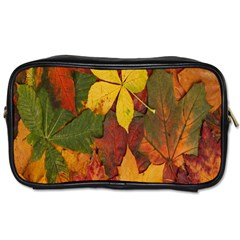 Colorful Autumn Leaves Leaf Background Toiletries Bags 2 Side by Amaryn4rt