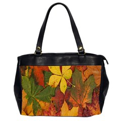 Colorful Autumn Leaves Leaf Background Office Handbags (2 Sides)  by Amaryn4rt